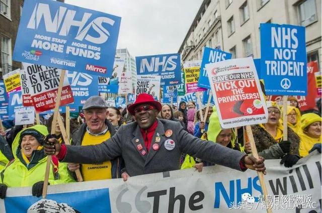 逾7成英国人愿付费拯救免费医疗 25万人全国示威促解决危机